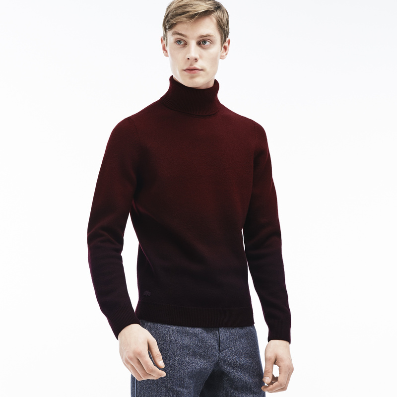 Lacoste Turtleneck Tie-Dye Wool Jersey Sweater AH0366: Vendange