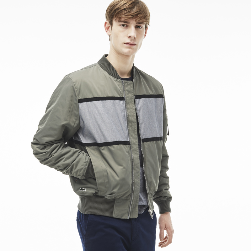 Lacoste Live Jacket in Twill and Color Block Denim BH5169