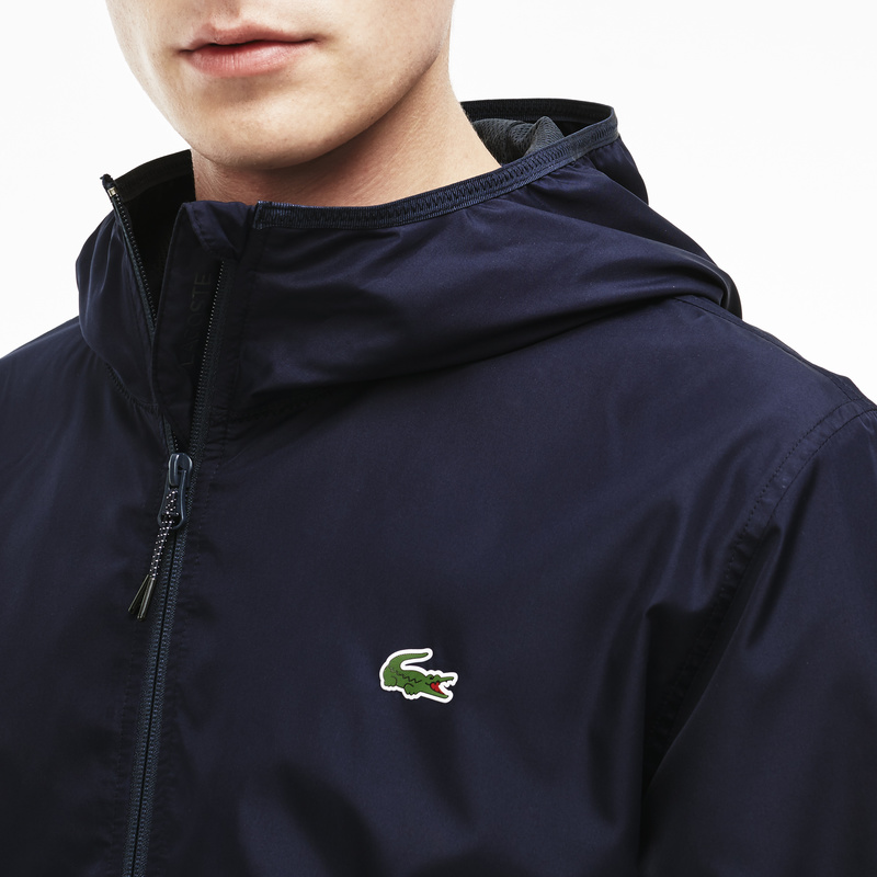 Lacoste Nylon Hooded Jacket BH5431: Navy