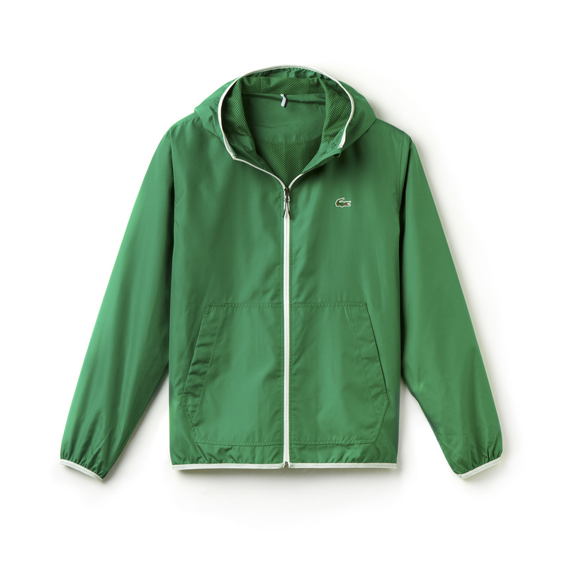 Lacoste Nylon Hooded Jacket BH5431: Green