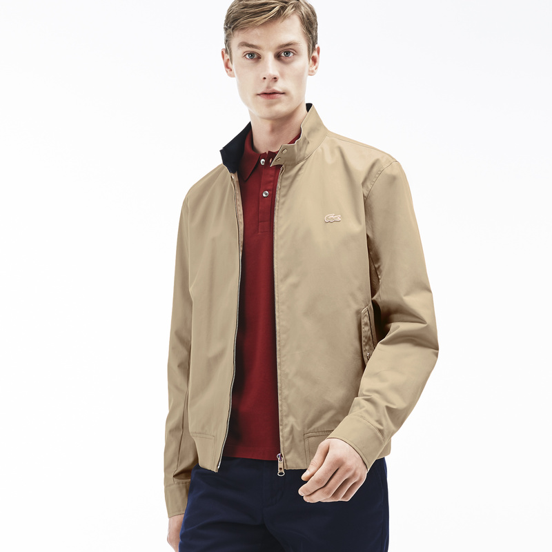 Lacoste Zippered Harrington Jacket in Cotton Twill BH6255
