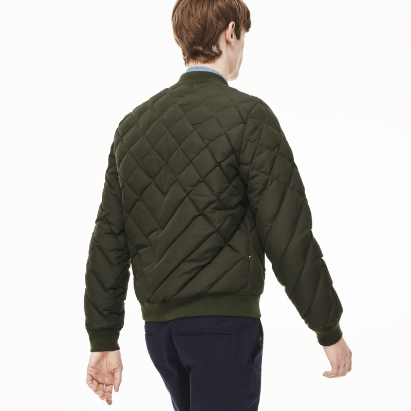 Lacoste L!ve Diamond Quilted Down Bomber Jacket BH9287: Baobab