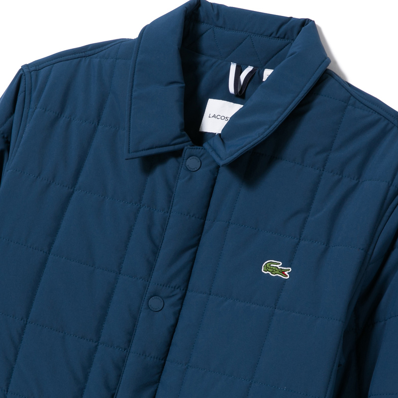 Lacoste Quilted Car Coat BH9478: Eclipse Blue