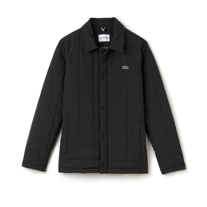 Lacoste Quilted Car Coat BH9478: Black