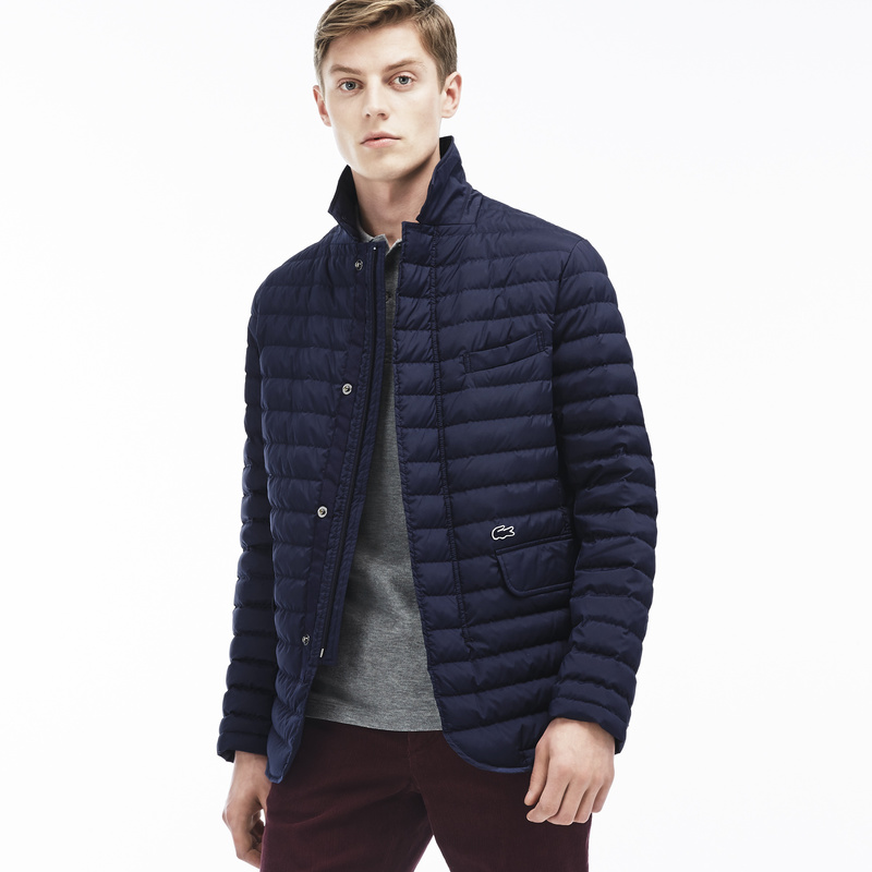 Lacoste Quilted Blazer BH9634: Navy