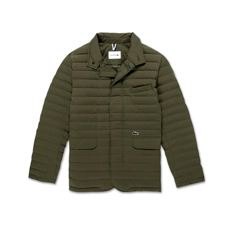 Lacoste Quilted Blazer BH9634: Khaki