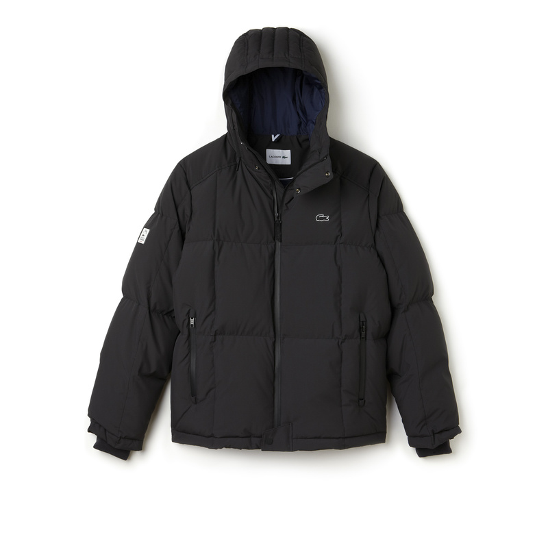 Lacoste Hooded Down Jacket BH9803: Black
