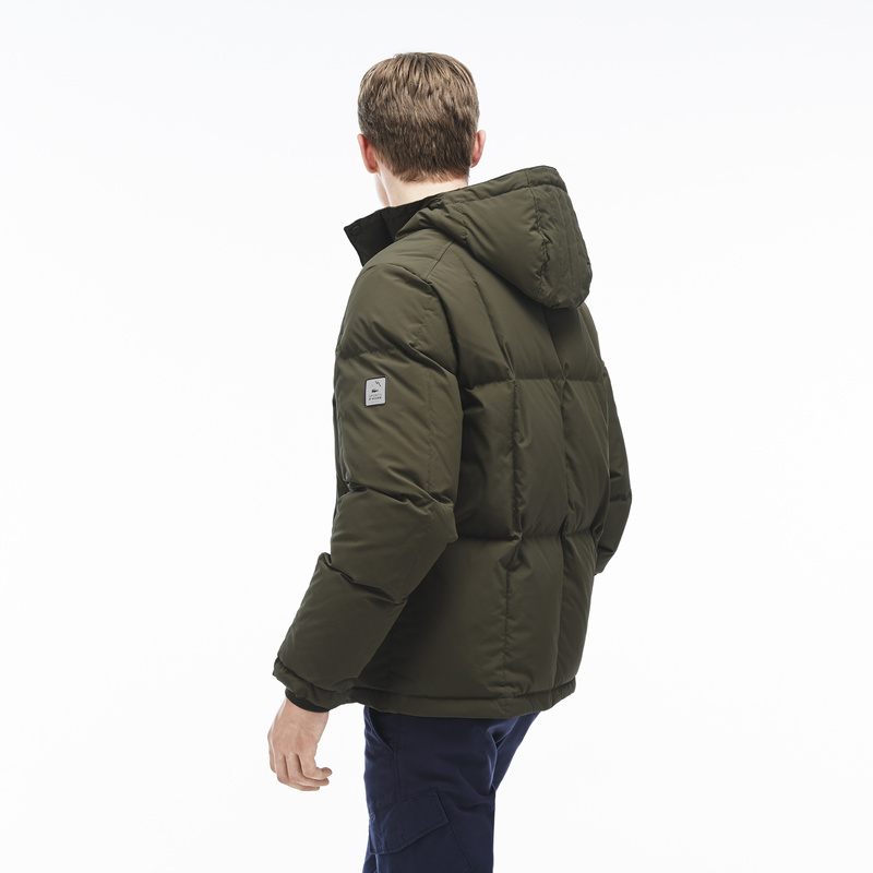 Lacoste Hooded Down Jacket BH9803: Baobab