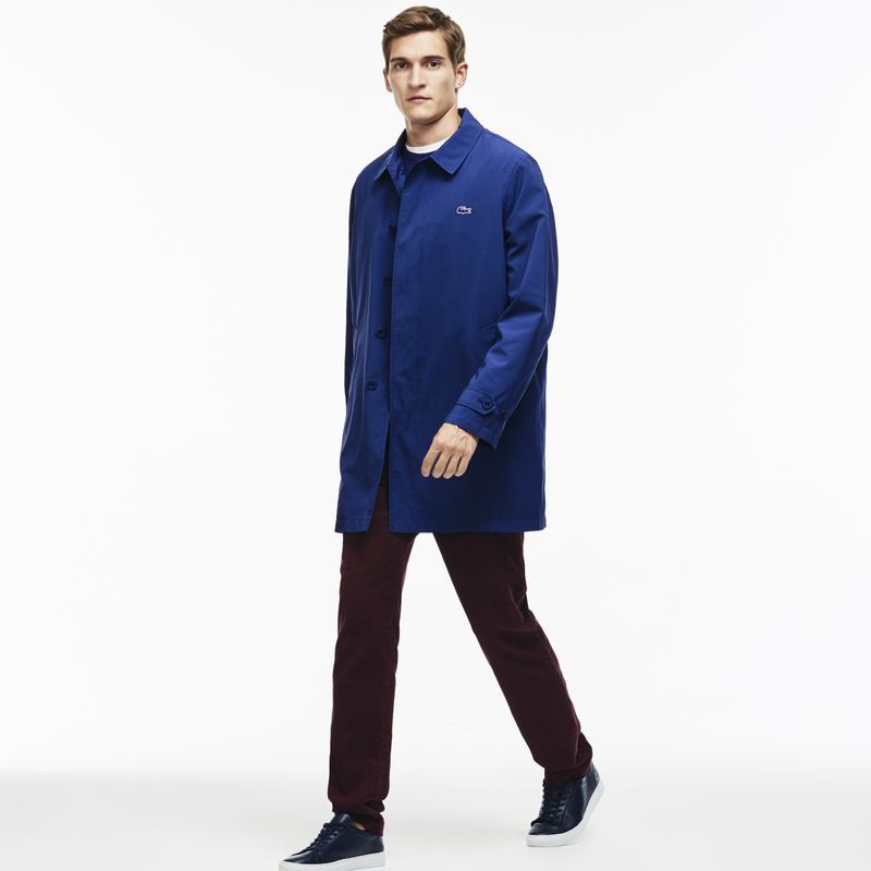 Lacoste Texured Nylon Overcoat BH9808: Waterfall Blue