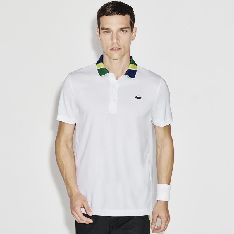 メンズ ラコステ テニスポロシャツ (半袖) ホワイト