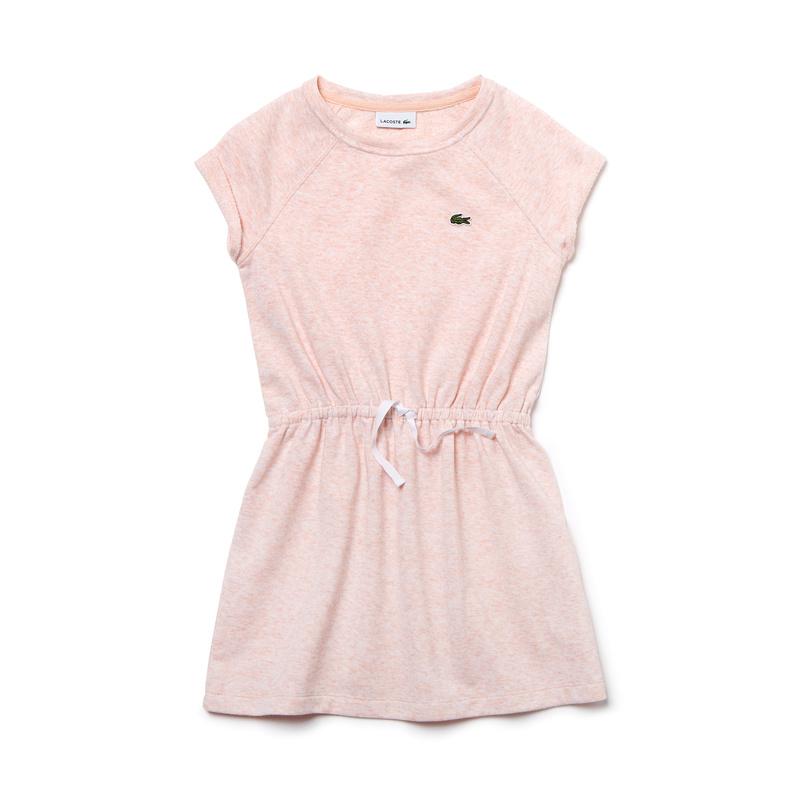 キッズ ラコステ GIRLS Tシャツドレス (半袖) ライトピンク