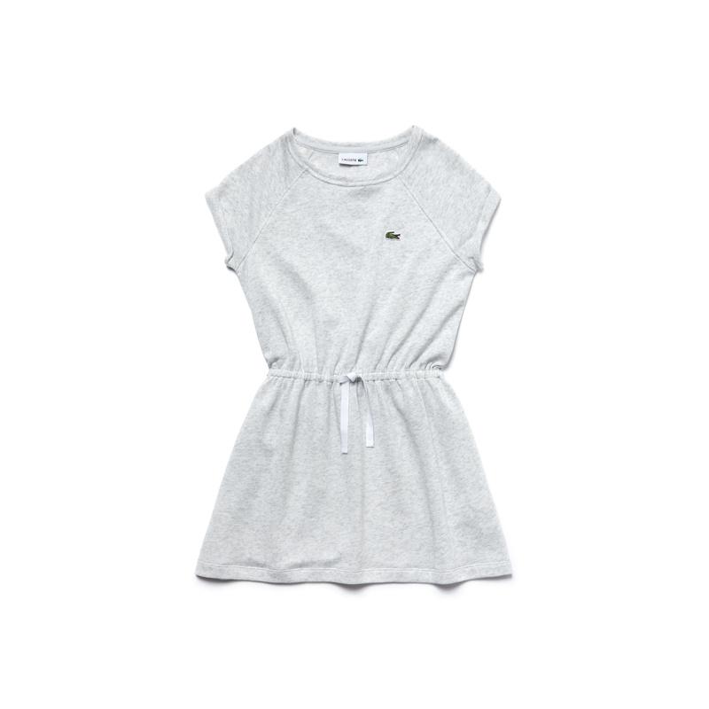 キッズ ラコステ GIRLS Tシャツドレス (半袖) ライトグレー