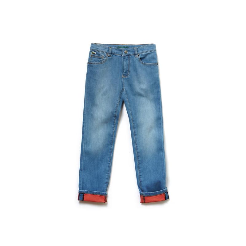 キッズ ラコステ Boys パンツ ブルー