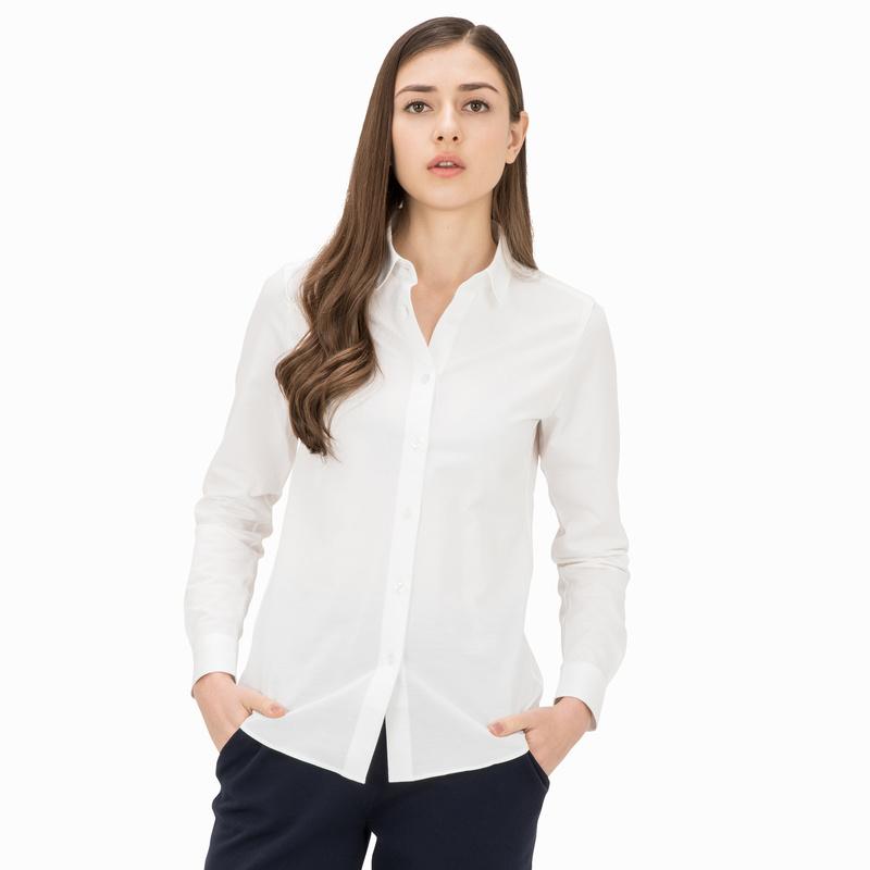 レディース ラコステ カットソー シャツ (長袖) ホワイト