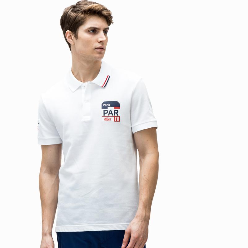 メンズ ラコステ ポロシャツ (半袖) ホワイト