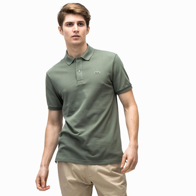 a52b50bc19c2 メンズ ラコステ スリムフィットポロシャツ (半袖) カーキ | ラコステ ...