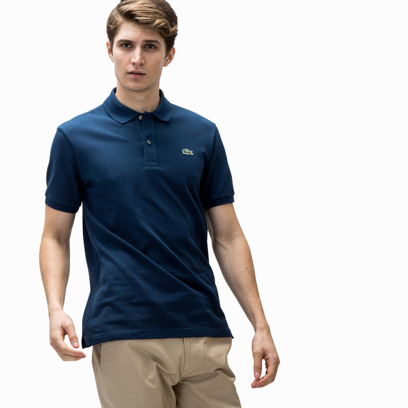 e36a53a0fa59 メンズ ラコステ スリムフィットポロシャツ (半袖) ブルー | ラコステ ...