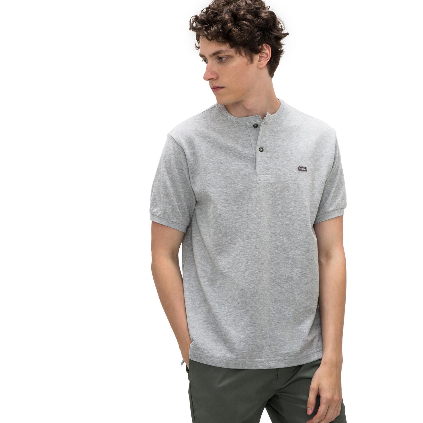 メンズ ラコステ ポロシャツ(半袖) グレー