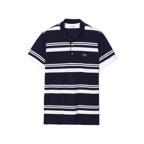 Striped Slim Fit Polo PH8258: Navy Blue