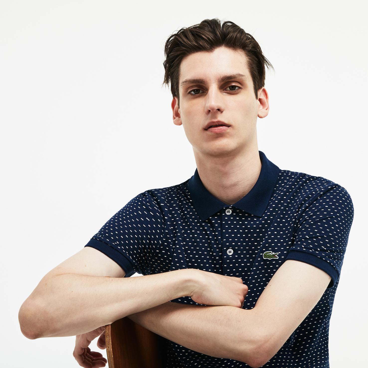 メンズ ラコステ 『WEB限定』 ポロシャツ ネイビー