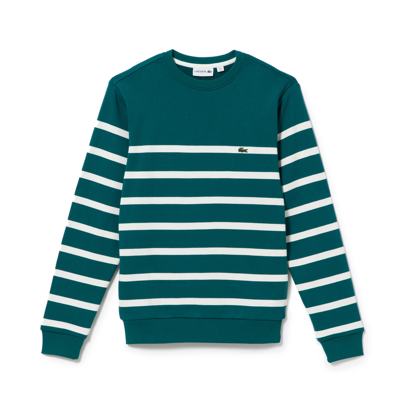 Lacoste Nautical Crew Neck Sweatshirt in Fleece SH6322: QAL