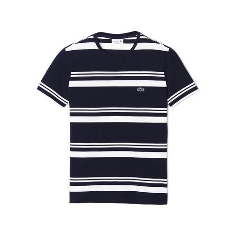 Striped T-shirt TH8121: Navy Blue