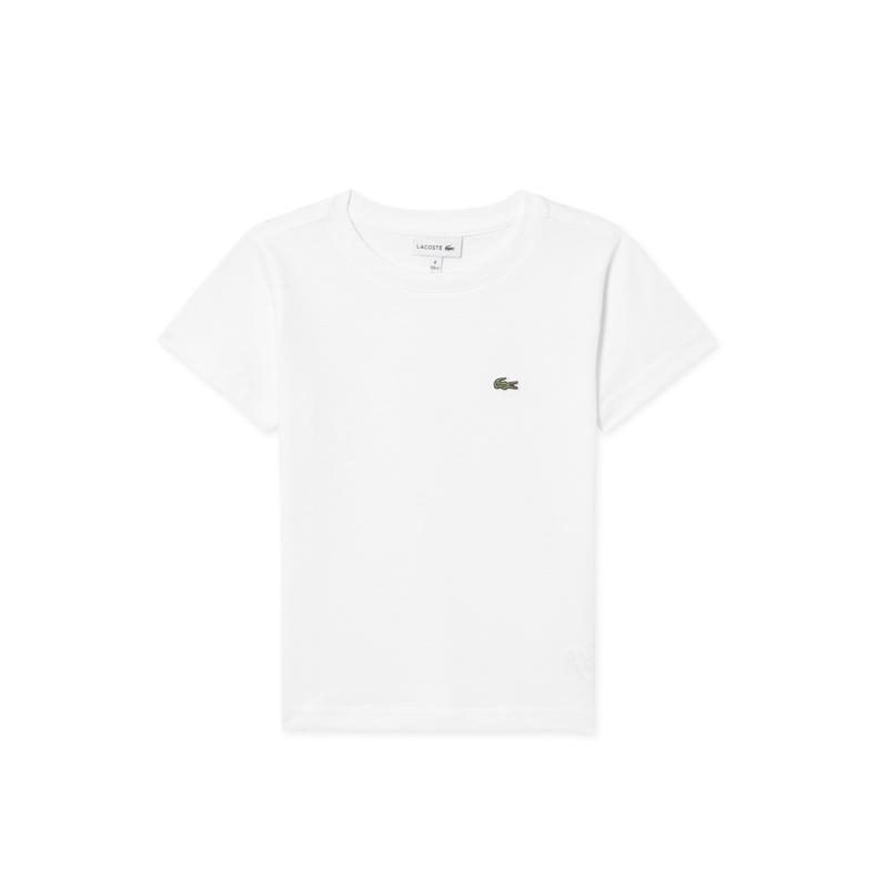 キッズ ラコステ Boys クルーネックTシャツ (半袖) ホワイト